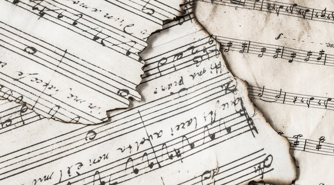 Partitions de musique brulées